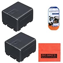 Pack Of 2 VW-VBG130 Batteries for Panasonic HDC-HS250 HDC-HS300 HDC-HS700 HDC-SD600 HDC-SD700 HDC-TM300 HDC-TM700 HDC-SDT750 Camcorder + More!!