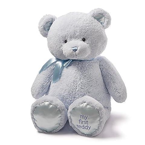 Gund Jumbo My First Teddy Bear Stuffed Animal, 36 inches - Blue Plush Bear