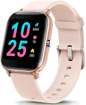 AIMIUVEI Smartwatch, Reloj Inteligente IP67 con Pulsómetro, Presión Arterial, 7 Modos de Deportes, Monitor de Sueño Caloría 1.4 Inch Pantalla Táctil Smartwatch para Mujer y Hombre (Oro): Amazon.es: Deportes y aire libre