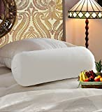 Homeland@Dreamsunlmited 100% Polyester Micro Fabric White Diwan Bed Bolster Sleeping Pillow - Perfect Reading And Watching Tv Bolster Pillow / Cushion on Sofa / Bedroom / Living Room - Filled With Recron Polyester Fiber (24'X9' Inch or 23X60 CM - Without Outer Cover) - Set of 5
