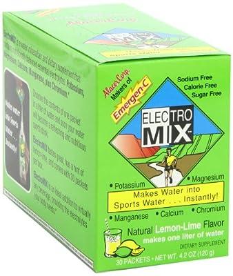 Emergen-C Electro Mix, Lemon Lime, 30-count