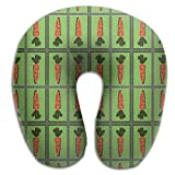Ministoeb Carrot Mirror Seamless Art Unique U Shaped Neck Pillow - Comfortable Soft Neck Support Pattern Pillow - For Rest Travel Car Airplane Bed Sofa