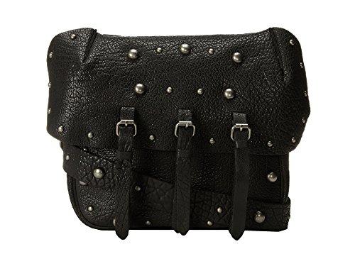 Lucky Brand Marley Flap (Black) (Bag Cross Leather Brand Body Flap Lucky)
