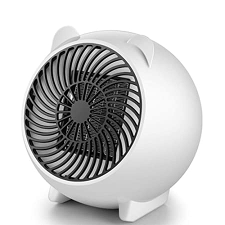 MAHZONG Radiador eléctrico 500W pequeño calentador de calefacción ...
