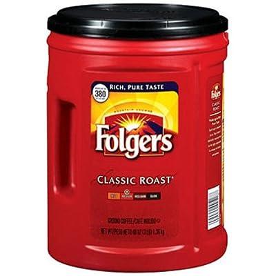 SCS Folgers Classic Roast Ground Coffee - 48 Oz.