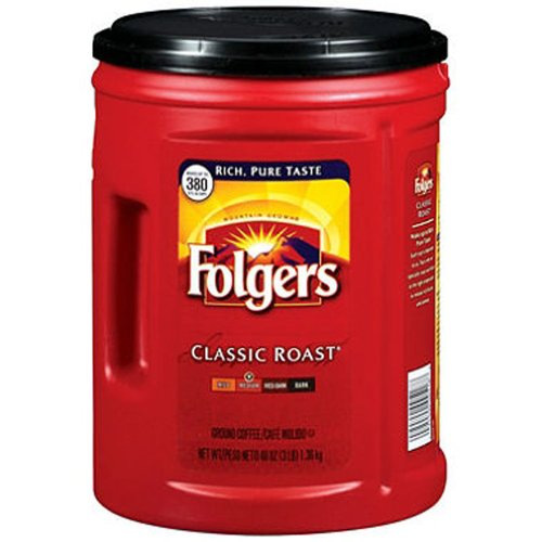 SCS Folgers Classic Roast Ground Coffee - 48 Oz. - Coffee Folgers