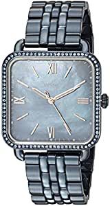 Fossil Women's 'Micah' Quartz Stainless Steel Casual Watch, Color:Blue (Model: ES4290)