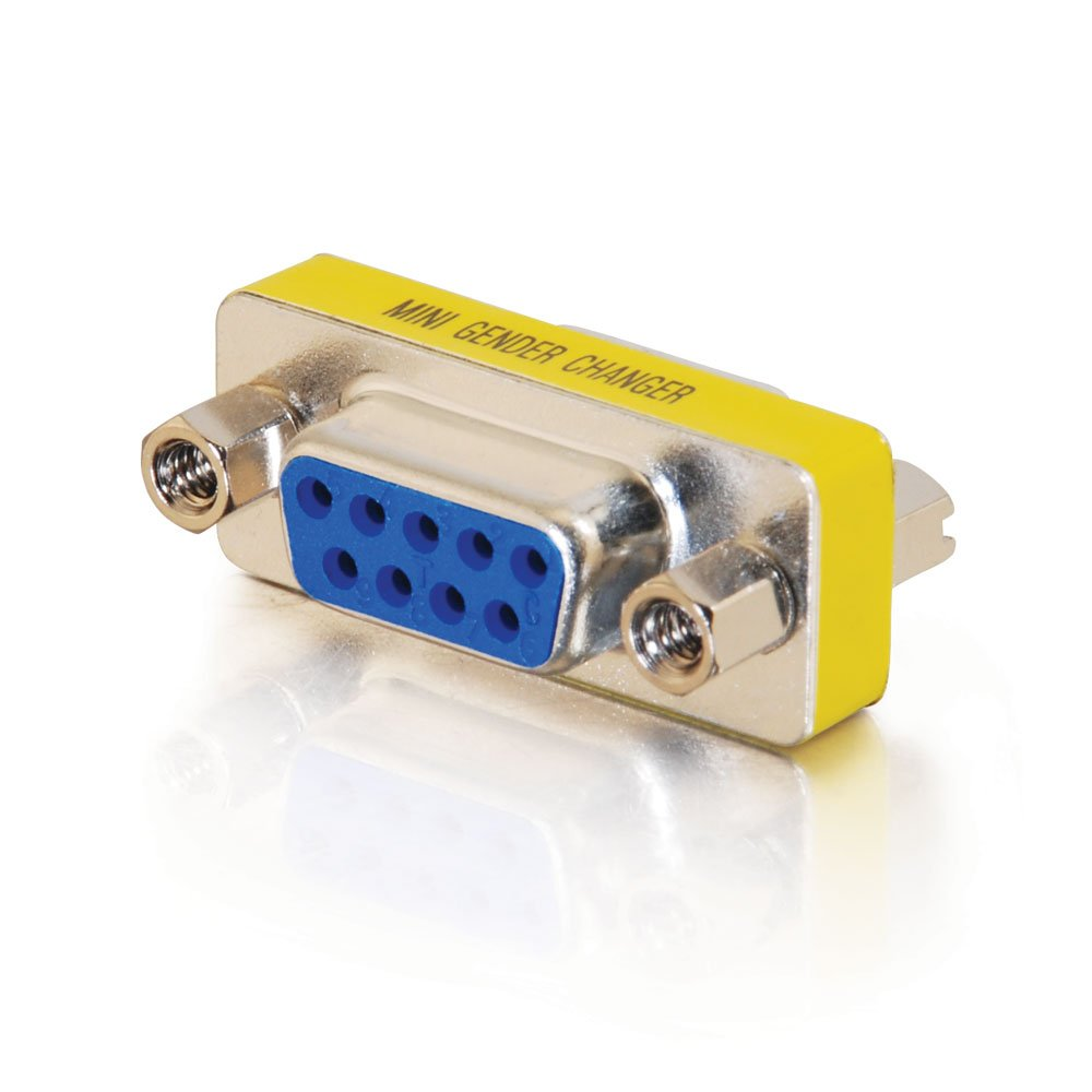 serial cables amazon com c2g cables to go 02781 db9 f f serial rs232 mini gender changer coupler