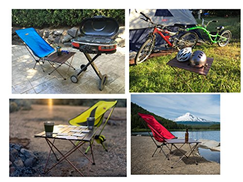 ... Trekology Portable Camping Table With Aluminum Table Top  ...