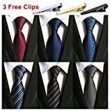 Weishang Pack of 6 Men's Classic Tie Silk Necktie Woven Jacquard Neck Ties (Set 4)