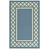 Maples Rugs Kitchen Rug - Bella 2'6 x 3'10 Non Skid Hallway Entry Rugs Accents [Made in USA] for Kitchen and Entryway, Blue
