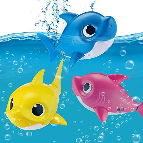 Robo Alive Junior Baby Shark Battery-Powered Sing and Swim Bath Toy by ZURU - Daddy Shark (Blue) by Robo Alive Junior (Image #6)