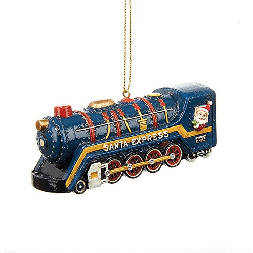 Kurt Adler Santa Express Train Resin Ornament