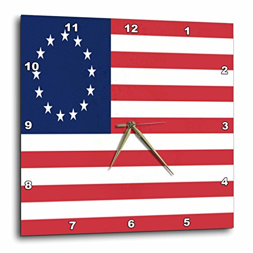 3dRose dpp_50163_3 13 Colonies Betsy Ross Flag Wall Clock, 15 by (Betsy Ross Flag Picture)