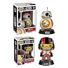 Funko POP! Star Wars Episode VII: Poe Dameron & BB-8 - Vinyl Bobble-Heads NEW