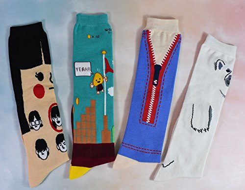 Socks WEILAI Color Novelty 13 Socks Crew Women Casual Pattern Funny Cotton Colorful Dress avPwxqwH