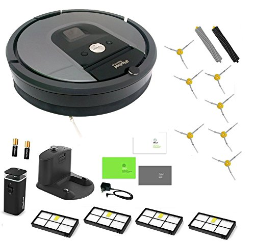 iRobot Roomba 960 Robotic Vacuum Cleaner Extended LIFE Bundle. Battery Operated iRobot Roomba 960 Vacuum Cleaning Robot Includes: Dual Mode Virtual Wall Barrier, 4 Filters! 7 Side Brushes! And MORE!