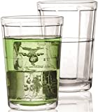 5oz metal pitchers - Circleware Pavillion Drinking Glasses, Set of 4, 7 Ounce