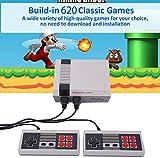 Mini Retro Classic Game Console Retro Childhood Game Classic Game Consoles Built-in 620 Childhood Classic Game Dual Control 8-Bit Console Handheld Game Player