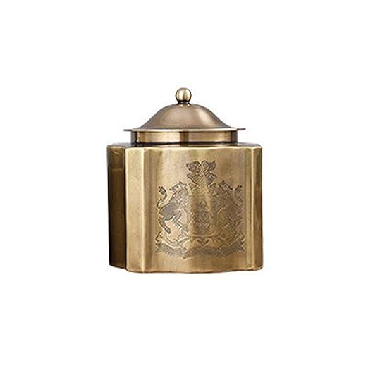 Adornos del escritorio de la decoración de la lata del té del ...