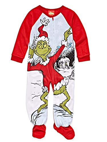 The Grinch Christmas Footed Pajamas