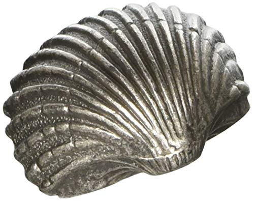 Siro Designs SD64-126 Pewter Scallop Pull, 1.65-Inch