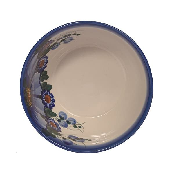 Traditional Polish Pottery, Handcrafted Ceramic Cereal or Salad Bowl, Boleslawiec Style Pattern, M.701.Passion