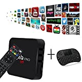 [Free Wireless Mini Keyboard] MX Pro Android TV Box Android 7.1 TV Box Amlogic S905w Quad-Core CPU 1GB RAM/8GB ROM with WiFi