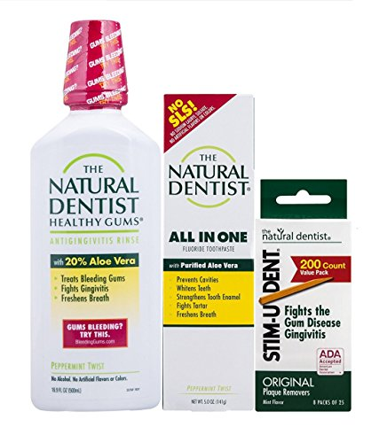 The Natural Dentist Healthy Teeth and Gums 3-Piece Gum Health Set