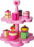 Dragon Drew Tea Set for Little Girls - Wooden Pretend Tea Set Toy - Tea Toy Set- Magnetic Cake Stand –