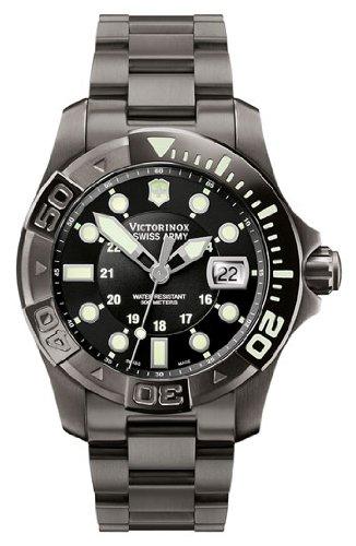 Victorinox Swiss Army Men's Dive Master Gunmetal Black Dial Watch