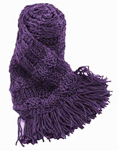 Handmade ALPACA Scarf - Purple and Lavender (CUSTOM MADE ORDER) by BARBERY Alpaca Accessories