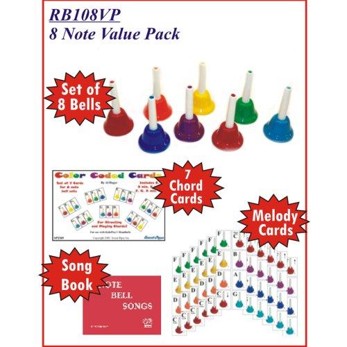 KidsPlay 8 Note Handbell Set Value Package by Rhythm Band