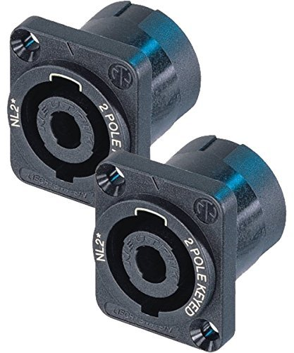 Neutrik NL2MP (PACK OF 2) Chassis Mount Solder, 2 Pole Type Speakon Connector ()