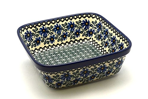 Polish Pottery Baker - Square - Blue Chicory
