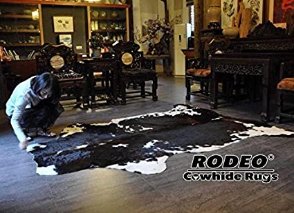 Rodeo Cowhide Rug Dark Brindle Size 5x7 Feet Dc