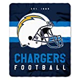 NFL San Diego Chargers Singular 50-inch by 60-inch Printed Fleece Throw