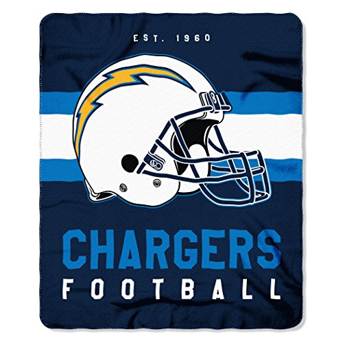 San Diego Chargers Bedding - The Northwest Company NFL San Diego Chargers Singular 50-inch by 60-inch Printed Fleece Throw