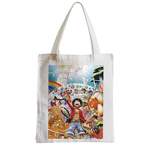 Große Tasche Sack Einkaufsbummel Strand Schüler mit einem Stück Luffy in Fisch Männer ONE PIECE