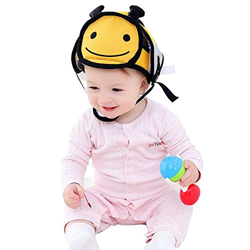 Infant Helmet Baby Safety Helmet,Infant Protective Safety Hat, Adjustable Infant Headguard Toddler Head Protector Breathable Helmet for Toddlers Learn to Walk (Bee)