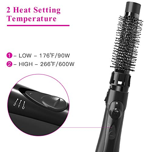 Upgrade Hair Dryer Brush Styler and Volumizer,Lightweight 3 in 1 Ionic Hot Air Brush with 2 Styling Attachments, Blow Dryer Brush, Hair Curler,Straightener and Styler for All Hair Types