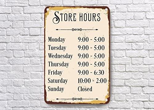 Cartel personalizable de horario de almacenamiento, cartel ...