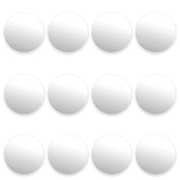 12 Pack Of Smooth White Foosballs For Standard Foosball Tables U0026 Classic  Tabletop Soccer Game Balls