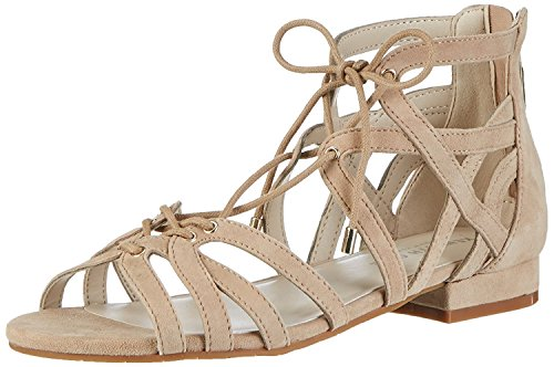 Kenneth Cole New York Women's Valerie Flat Sandal, Almond, 8.5 M (Kenneth Cole Rubber Sole Sandals)