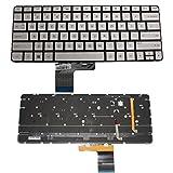 New Silver Laptop US Keyboard With Backlit For HP Spectre 13T 13-3000 13-3010DX 13-3010EG 13-3010ER 13-3011TU Part Number:743897-001 MP-13J73USJ886