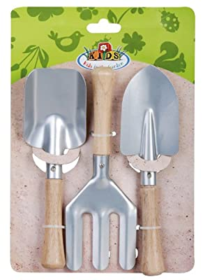Esschert Design USA KG107 Childrens Small Garden Tool Set, Silver