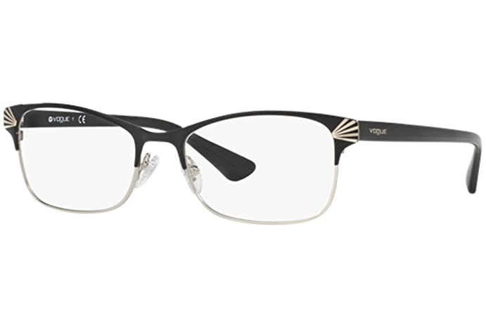 Vogue VO4009 Eyeglass Frames 352-52 - Black/Silver at Amazon Men\'s ...