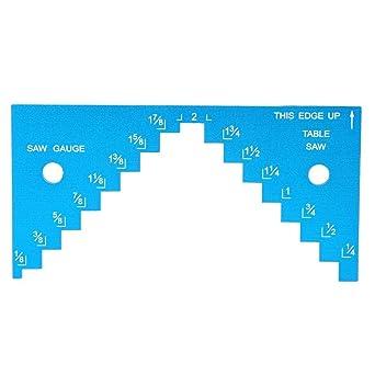0-80mm jauge de Hauteur avec des pieds magn/étiques pour la mesure de profondeur et la mesure professionnelle de la scie circulaire /à table Jauge de profondeur Num/érique