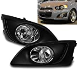 ZMAUTOPARTS Chevy Sonic Bumper Driving Fog Light Lamp Chrome W/Cover+Harness+Switch