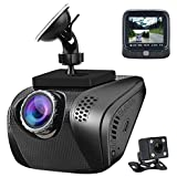 Acumen Dual Dash Cam Camera for Cars Video Recorder Traffic Dashboard with Wide Angle Vehicle Dashboard Camera Recorder Exmor Sensor WDR Loop Recording (Front and Rear Cam)